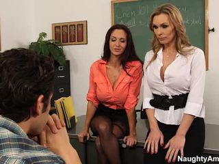 Big titted teachers nyasarké their learner in sexy 3 some