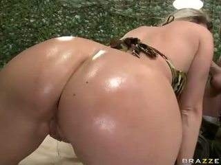 Gorgeous military milf Devon Lee anal pounded