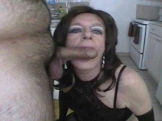 sucking, crossdresser, blowjob