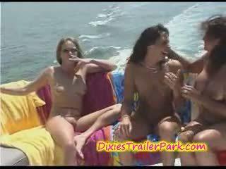 barcă, lesbiană, milf