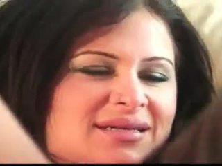 brunett, stora bröst, stora tuttar