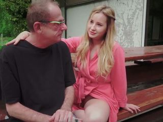 Teen Daughter Fucked for Disturbing Step Old Dad from
