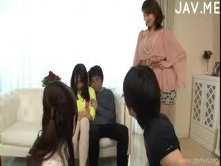 japonec, skupinový sex, výstřik