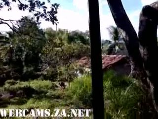29 Brazilian Taking Shower In The Farm