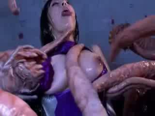 怪物 tentacles jizzing 大 布布 东方的 色情 attacker 所有 该 体