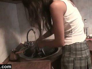 Dagfs: amadora girlfriends licking em o cozinha