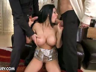 brunette, group fuck