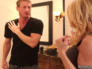 Blonde Milf Gets Her Sons Companion Great Dick In A Douche