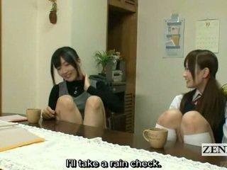 Subtitled leszbikus japán tanár bath -val diáklány