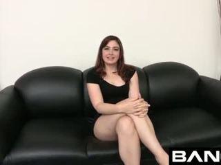 brunette, rough, audition