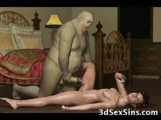 grande, galo, esperma