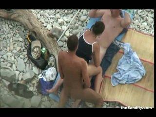 voyér, pláž, hot nudism