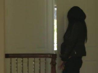 مفلس امرأة سمراء في سن المراهقة banged شاق