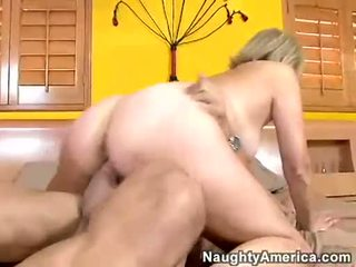 Rockin momma Erica Lauren slamming her horny pussy on a throbbing hard cock