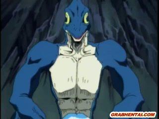 عبودية هنتاي الفتيات groupfucked بواسطة مسخ lizards