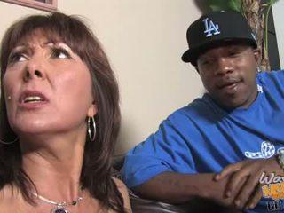 MILF gets gangbanged by hung blacks