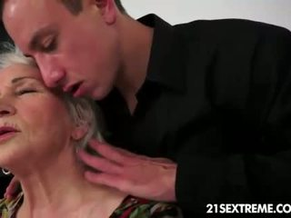 old, granny, blowjob