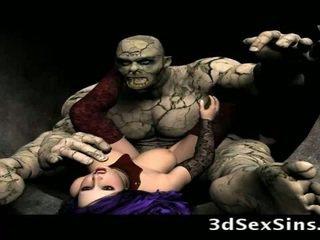 Scary ogres bang 3d mädchen!