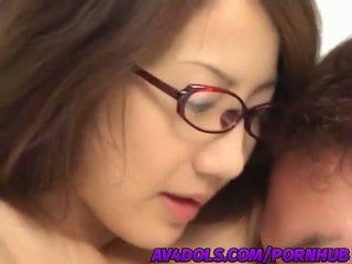 שובבי אסייתי משרד גברת rina hasegawa gets banged קשה ב the הפסקה חדר