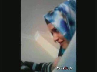 Hijab турецька turban смокче пеніс
