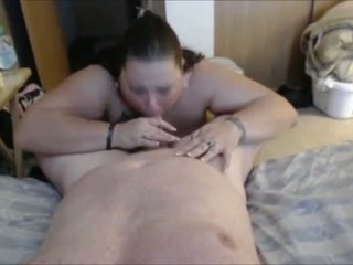 Horny BBW with her new sex partner