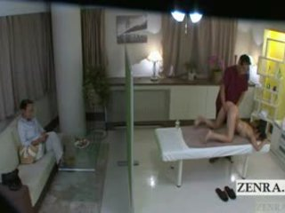 Subtitled giapponese studentessa idol hopeful culo massaggio