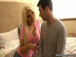 सबसे बड़े स्तन आदर्श, पूर्ण blowjob देखिए, हॉट गोरा हॉट
