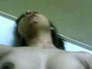印度人 女孩 latha 性交 和 cummed 上 脸