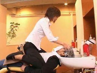 Giapponese av modella licks cazzo