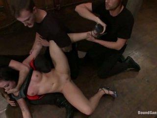 hardcore sex, fund frumos, penetrare dublă