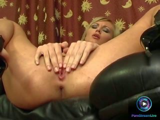 Amanda Shoves Her Fingers from Her Mou...