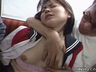 Japanilainen teinit sisään koulu yhdenmukainen has kolmikko