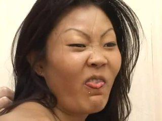 Lucy lee receives a брудний обличчя creaming після жорсткий dp