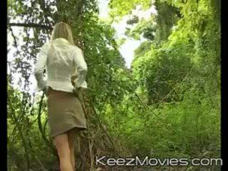 Gorgeous blonde naked in the forest