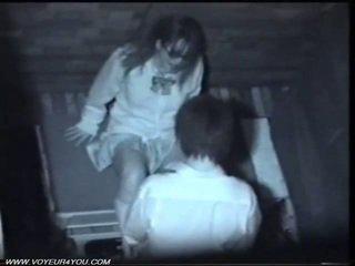 Two japans geil koppel publiek seks