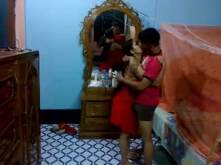 Honeymoon Indian Pair In Their Bedroom