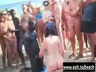 Inter rasial petrecere pe the nud plaja video