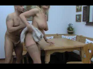 Loira huge-boobs-granny anal taken