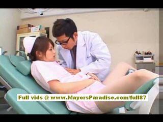 Akiho yoshizawa 性感 亞洲人 護士 enjoys teasing 該 醫生
