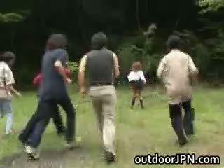 japanese, interracial, public