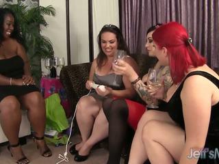 Ronde balchoelette fête turns hardcore lesbienne sexe