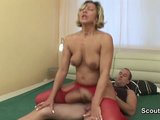 Mom wake up when boy touch her and get fucked hard