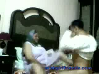 Horny Arab couple caught fucking by spy in hotel room