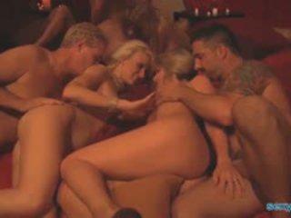 स्विंगर पार्टी ऑर्जी साथ 6 couples