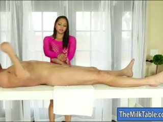 Hot masseuse adrianna luna blowjobs under the table