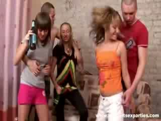Guys drill blondie and feed her with spunk