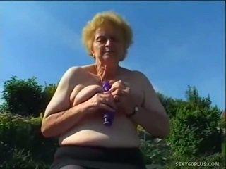 Pieauguša donna iekšā zeķe has liels joystick