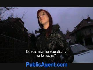 Чешки червенокоси goes вкъщи с на публичен agent