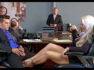 Blonde Slut in the Meeting Room, Free HD Porn 68