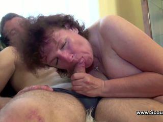 Mama tertangkap jerman laki-laki dan mendapatkan kacau di semua holes